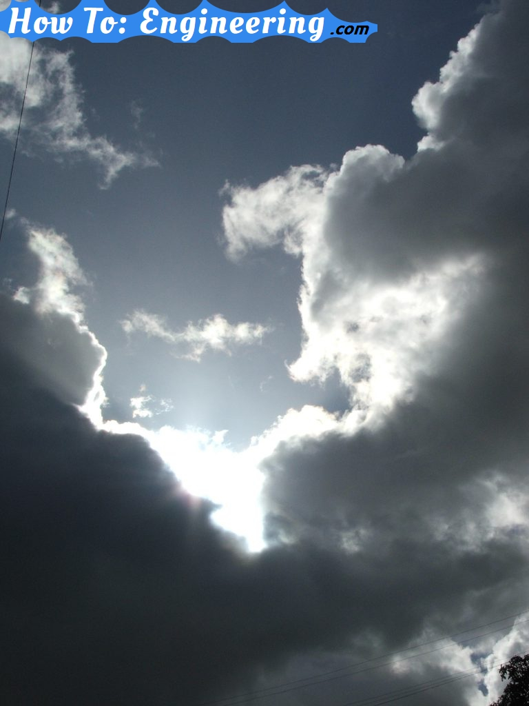 Clouds and the sun