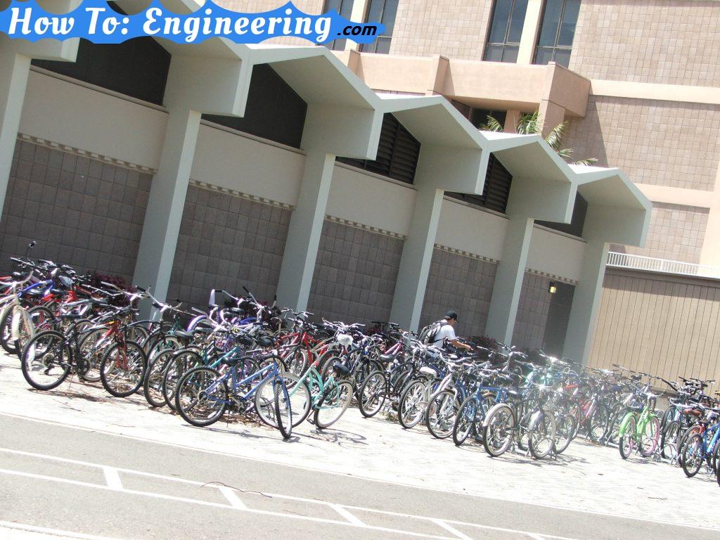 University of California – Santa Barbara lots of bicycles