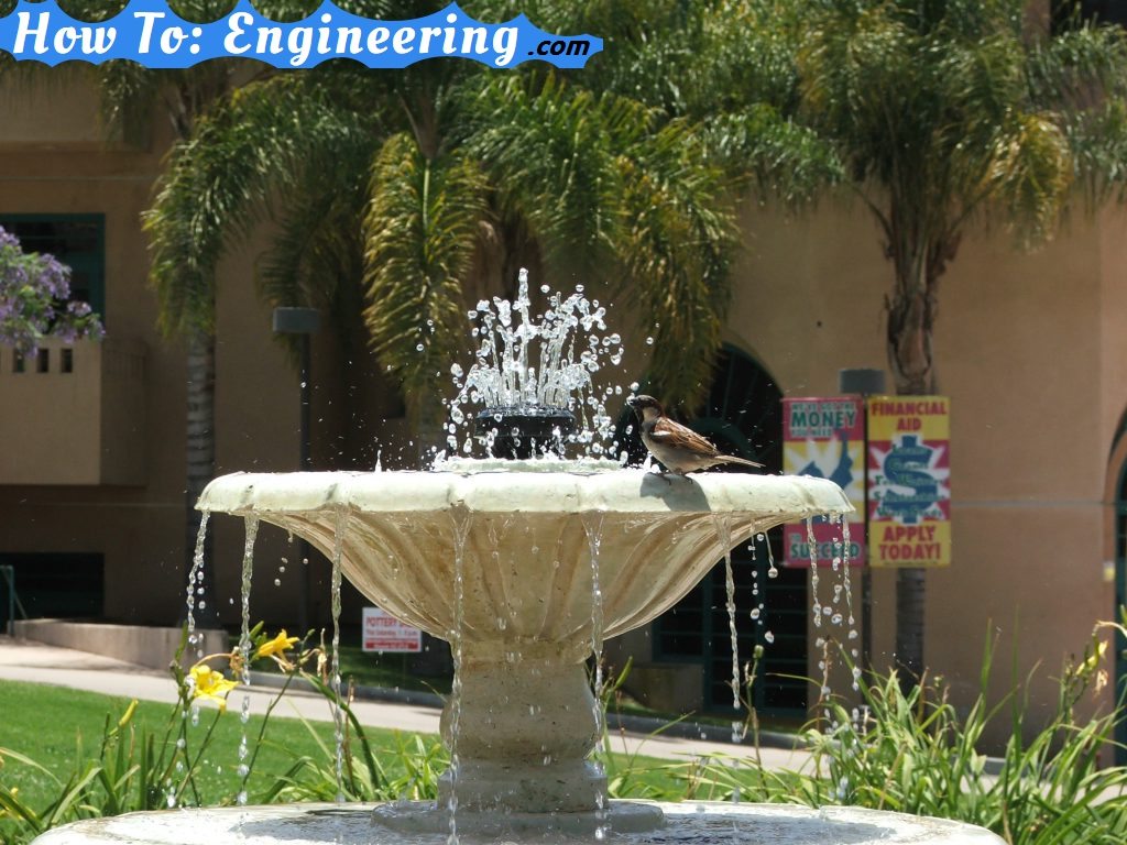 Little bird on a fountain