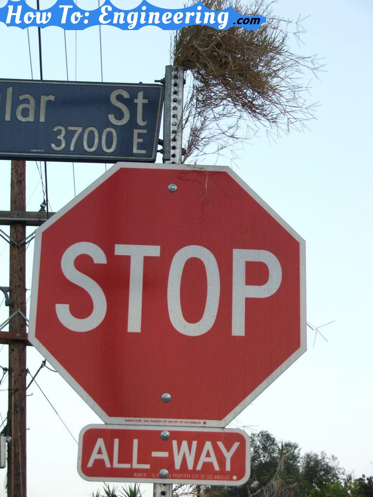 Stop sign with hair