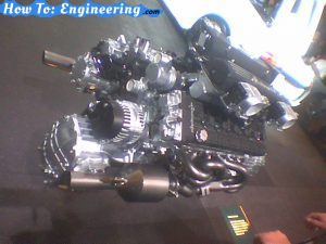 LA Auto Show - Engine on stand