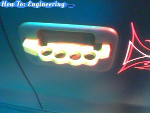 LA Auto Show - brass knuckles door handle
