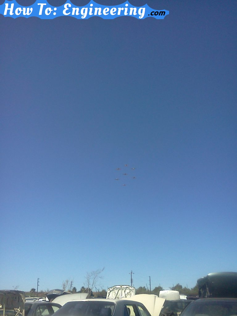 Seven planes in formation